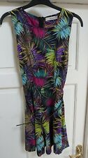 Ladies Tropical Feather Print Playsuit Size 8