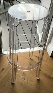 Kartell bar stool - Charles Ghost by Kartell with Starck - height 75cm