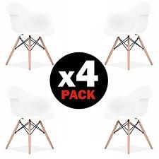 Pack 4 sillas de comedor Blancas silla diseño nórdico modelo Suecia