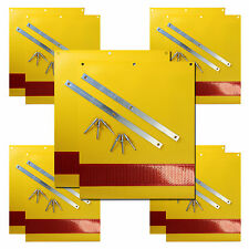 5 pairs of Tail Lift Warning Flags / Platform Markers Flags with fixing kits