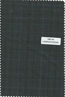 Windowpane box Check Plaid Green Suiting fabric Suit pants cashmere wool