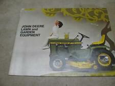 John Deere Lawn And Garden Equipment Sales Brochure 70 110 112 120 140 Patio '69