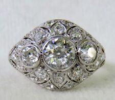 ANTIQUE ART DECO PLATINUM 1.92 CT. OLD EUROPEAN CUT DIAMOND ENGAGEMENT RING