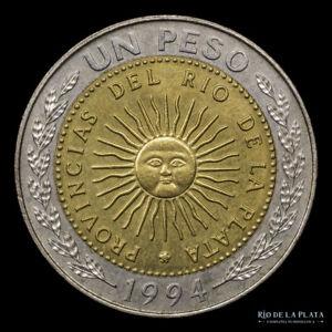 .: Argentina 1 Peso 1994 Essai Pattern / Pongsan, Korea Mint  :.