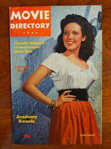 "Rare Vintage Star ""MOVIE DIRECTORY"" 1945 40+ Full Page Photos Rita Hayworth MORE"