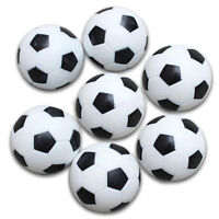 5x Plastic 32mm Soccer Indoor Table Football Ball Replace Black+white J4I4