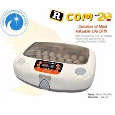 R-COM 20 MAX Fully Automatic Humidity Egg Turn Temp + RCOM Candler NEW WARRANTY