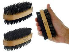 Men Boar Hair Bristle Beard Mustache Brush Soft Hard Palm Round Wood Handle New