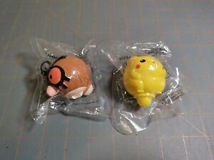 PIKACHU & HOOTHOOT Battle Tops SEALED Kellogg's Cereal Toys Pokémon