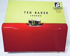 Ted Baker Pearl Bobble Patent Matinee Purse Bright Orange 100% Authentic