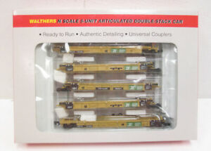Walthers 932-8104 Burlington Northern 5-Unit Articulated Double Stack Car EX/Box