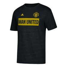 "Manchester United F.C. EPL Adidas Men's ""Bar None"" Team Black Tri-Blend T-Shirt"