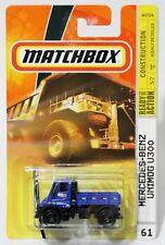 MERCEDES-BENZ UNIMOG U300 * 2008 MATCHBOX * BLUE CARGO COURIERS CONSTRUCTION 61