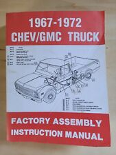 (Reprint) 1967-1972 Chev/Gmc Truck Factory Assembly Instruction Manual