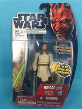 Star Wars Movie Heroes Qui-Gon Jinnfigure Light-up blade loose A11 in box