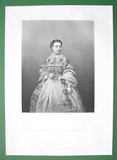 MADAME Piccolomini Italian Opera Songstress - SUPERB Antique Print