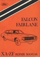 FORD FALCON XA & FAIRLANE ZF Series 1972-1973 WORKSHOP MANUAL