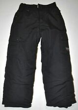 """Quik Silver Boy's Small (W25"""" L21.5"""") Black Cargo Snow Pants Insulated *As Is*"""