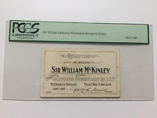 1901 President William McKinley Reception Ticket California Commandery PCGS