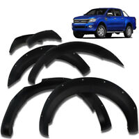 Fit 2012-2015 Ford Ranger T6 PX XL Wildtrak Fender Flare Body Wheel Arch Black