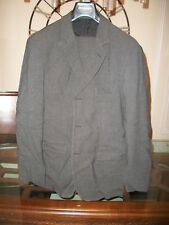 used EMPORIO ARMANI charcoal suit EU 56R US 46R flat front 34 x 31 Italy $1,895