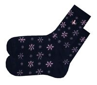 JACK WILLS Womens Navy Blue Christmas Snowflake Xmas Socks > UK 3-7 EUR 36-41