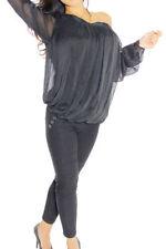 Camisas y tops de mujer de color principal negro 100% seda