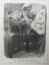 WW1 1916 20th Sept THE TRIUMPH OF COALITION - NATIONAL LIBERAL Punch Cartoon
