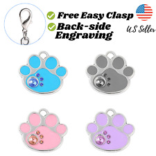 Buy 4 Get 1 Free√ Paw Bling Sparkle Cute Dog Tags Cat Tags Engrave Personalize