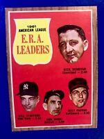 1962 Topps #55 AL ERA Leaders Donovan/Bill Stafford/Don Mossi/Milt Pappas