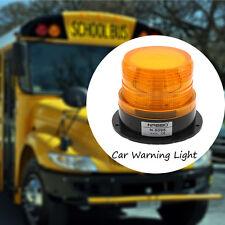 LED Car Truck Warning Light Amber Flashing Strobe Police Emergency Light 12V 24V