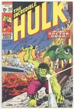 Incredible Hulk #143 Vf- 7.5 Doctor Doom And Doc Samson Appearance 1971