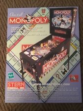 2001 Stern Pinball Monopoly Game Flyer