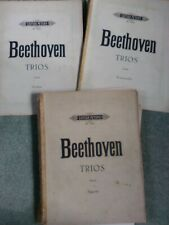 Beethoven – Trios for violin, 'cello and piano. Score and parts. sheet music