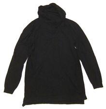Mens ZARA Longline Sweater in Black Cowl Funnel Neck sz XL