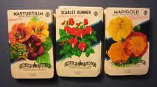 410C SEED PACKETS EMPTY Wholesale Lot of 100 Old 1940/'s Vintage FLOWER