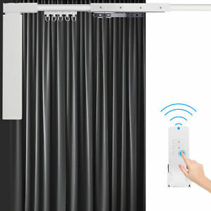 """87""""-244""""Smart Home Automatic Motorized Curtain Track Electric Curtain w/ Remote"""