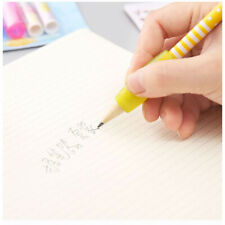 1set Pen Pencil Grip With Cap Children Silicone Handwriting Aid Color Random Fad
