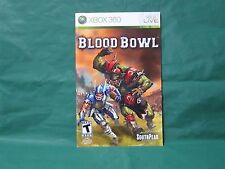 Blood Bowl Manual Xbox 360 *MANUAL ONLY*
