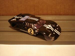 TOMY AFX BODY ONLY FORD GT40 MK IIB #2 SEBRING BODY IN BLACK WHITE FITS 1.5