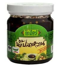 1 X Nam Pla Wan Takrai Sweet Fish Sauce for Mango 225g. thai food best healthy