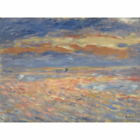 Pierre Auguste Renoir Sunset 1879 Or 1881 Painting XL Wall Art Canvas Print
