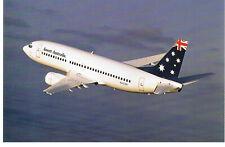 ANSETT AIRLINES  B737-300 'Aust Flag Livery' Postcard