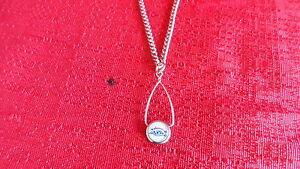 NFL Super Bowl 39 New England Patriots Logo Silver Tone Necklace