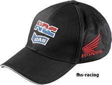 original  HONDA HRC GAS RACING Basecap Cap Mütze Baseball-Cap , black bestickt !