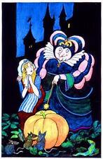 Original Vintage Poster Tomi Ungerer Cinderella Fairy Godmother Princess 1970s