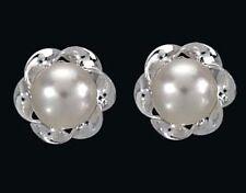 925 ECHT SILBER *** Kleine Perlen SW-Zuchtperlen Ohrstecker 8 mm