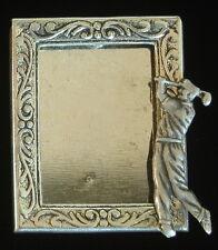 & Oxidized Matte Silver Male Golfer Golfer Golf Photo Frame Pin Silver Plate
