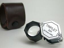 30X TRIPLET 21mm Polygon LOUPE Gem Tool  New !