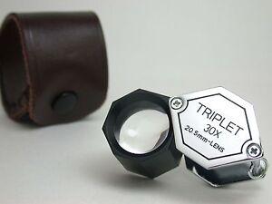 30X TRIPLET 21mm Polygon LOUPE Gem Tool  New !
